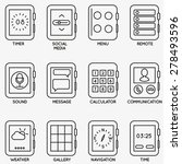 set of vector kits of mobile...