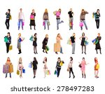 spending is fun shopping spree  | Shutterstock . vector #278497283