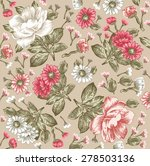 beautiful pink white baroque... | Shutterstock .eps vector #278503136
