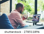 modern business man connecting...   Shutterstock . vector #278511896