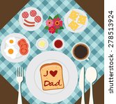 happy father's day. | Shutterstock .eps vector #278513924