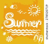 creative graphic for summer.... | Shutterstock .eps vector #278520719