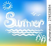 creative graphic for summer.... | Shutterstock .eps vector #278520854
