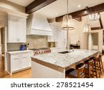 Kitchen In Luxury Home With...