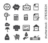 tax  icon   silhouette  vector ... | Shutterstock .eps vector #278528324