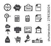 tax  icon   silhouette  vector ...