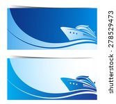 boat banners blue background ...   Shutterstock .eps vector #278529473
