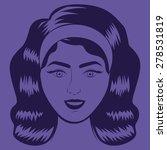 retro woman design over purple... | Shutterstock .eps vector #278531819