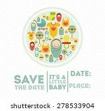 baby shower design over white... | Shutterstock .eps vector #278533904