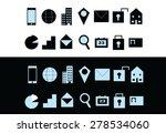 light blue set of modern... | Shutterstock .eps vector #278534060