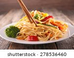 Asian Cuisine Noodles And...