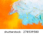 orange abstract watercolor... | Shutterstock . vector #278539580