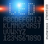 led alphabetic fonts and... | Shutterstock .eps vector #278545103