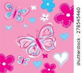 butterfly with flowers vector... | Shutterstock .eps vector #278545460