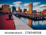 Long Exposure Of The Baltimore...