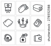 spa icons. vector illustration. | Shutterstock .eps vector #278552588