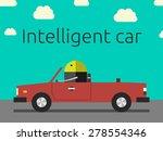 robot driving the car.... | Shutterstock .eps vector #278554346