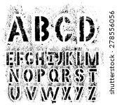 black grunge alphabet for your... | Shutterstock .eps vector #278556056