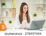 young beautiful designer... | Shutterstock . vector #278557454