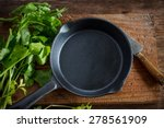 Vintage Cast Iron Skillet On...