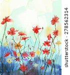 Watercolor Flowers Painting In...
