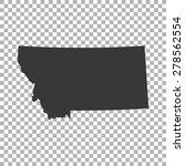 map of montana | Shutterstock .eps vector #278562554