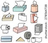 vector set of tissue paper | Shutterstock .eps vector #278564738