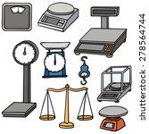 Vector Set Of Weighing Machine