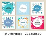 invitation. trendy posters with ... | Shutterstock .eps vector #278568680