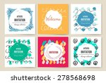 set of trendy posters with hand ... | Shutterstock .eps vector #278568698