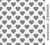 seamless pattern of hearts in... | Shutterstock .eps vector #278569034