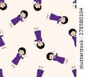 singer  cartoon seamless... | Shutterstock .eps vector #278580104