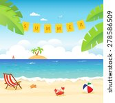 summer card | Shutterstock .eps vector #278586509