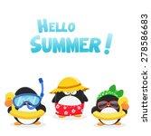 summer penguins | Shutterstock .eps vector #278586683