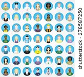 the americans  49 people round... | Shutterstock .eps vector #278587250