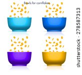 corn flakes bowls with... | Shutterstock .eps vector #278587313