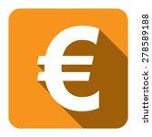 yellow euro currency flat long...