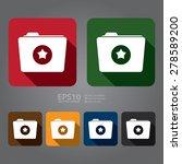 vector   folder with star flat... | Shutterstock .eps vector #278589200