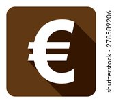 brown euro currency flat long...