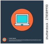 laptop icon  vector...