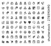 set of flat icons  with... | Shutterstock .eps vector #278590490