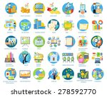set of busines round icons in... | Shutterstock .eps vector #278592770
