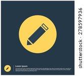 pencil icon  vector...