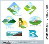 mountain range and river icons | Shutterstock .eps vector #278602406