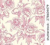 peonies seamless pattern. | Shutterstock .eps vector #278604479