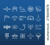aviation outline icons | Shutterstock .eps vector #278604878