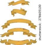 ribbon sets | Shutterstock .eps vector #278605130