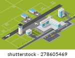 isometric 3d airstrip of the... | Shutterstock .eps vector #278605469