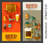 banners with beer icons and... | Shutterstock .eps vector #278607110