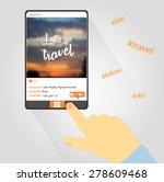 lets go travel pnone design ... | Shutterstock .eps vector #278609468